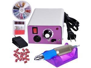 Professional Electric Acrylic Nail Drill File Machine Kit with Bits Manicure Set