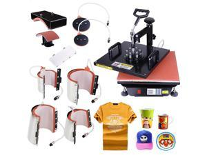 15x15 8in1 Heat Press Transfer Machine Digital Sublimation T-Shirt Mug Hat Plate Cap w/ Gloves