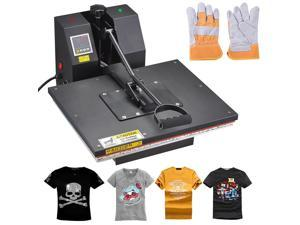 16x20 Digital Sublimation Heat Press Machine Transfer Clamshell T-shirt w/ Gloves
