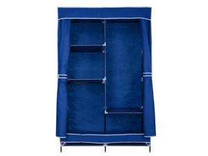 "42"" Portable Closet Wardrobe Clothes Rack Storage Organizer w/ Metal Shelf"