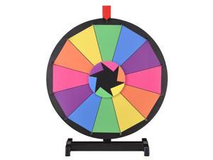 """WinSpin™ 18"""" Tabletop Editable Color Prize Wheel 12 Slot Spinning Game Dry Erase Tradeshow"""