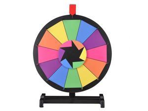 """WinSpin™ 15"""" Tabletop Editable Color Prize Wheel 12 Slot Spinning Game Dry Erase Tradeshow"""