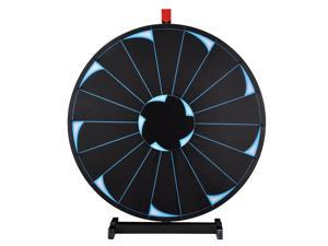 """WinSpin™ 30"""" Tabletop Editable Prize Wheel 18 Slot Spinning Game with Dry Erase Tradeshow"""