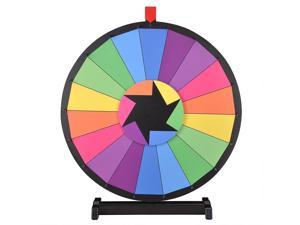 """WinSpin™ 24"""" Tabletop Editable Color Prize Wheel 18 Slot Spinning Game Dry Erase Tradeshow"""