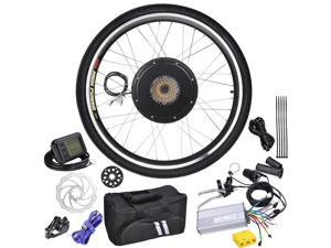 "48V 1000W 26"" Rear Wheel Electric Bicycle LCD Display Motor Engine Kit E-Bike Conversion"