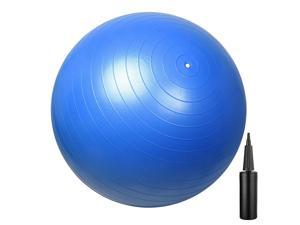 75cm Anti-burst Yoga Exercise Balance Gym Body Aerobic Ball w/ Pump Blue