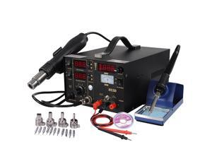 3in1 853D Hot Air Rework Soldering Iron Station Gun Solder SMD DC Power Supply