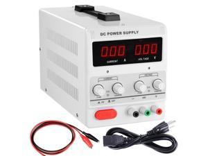 Yescom 30V 10A 110V DC Power Supply Precision Variable Digital Adjustable w/ Clip Cable