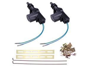 2 Universal Power Central Lock Kit 2 Wire Actuator Kit For Auto Car Vehicle