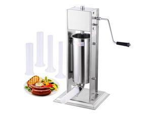 15lb 5L Stainless Steel Vertical Sausage Stuffer Commercial Restaurant Pork Meat