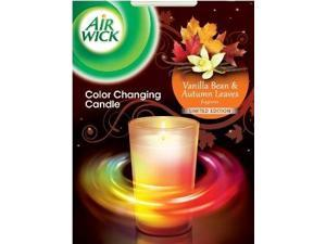 Air Wick Color Changing Scented Candle Limited Edition, Vanilla Bean and Autumn Leaves, 4.23 Ounce