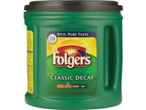 Folgers Classic Roast Decaffeinated Ground Coffee, 33.9-Ounce Tubs (Pack of 2)