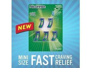 Nicorette Mini Lozenges 2 mg - 5 Vials, 27 Lozenges Each - 135 Mint Flavored Lozenges