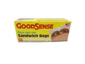 GOOD SENSE SANDWICH BAGS FOLD LOCK TOP 150 PER BOX