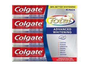 Colgate Total, Advanced Whitening Toothpaste, 8oz (226g) Tube, 4 packs