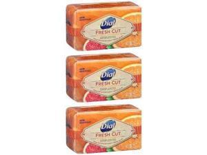 Dial Fresh Cut Bar Soap - Citrus Premium Fragrance - Net Wt. 8 OZ (226 g) Per Bar - Pack of 3 Bars