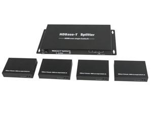 HDBaseT™ 1x4 HDMI Splitter and 4 Receivers
