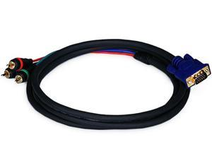6ft VGA to 3 RCA Component Video Cable (HD15 - 3-RCA)  (2170)