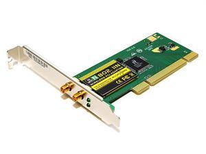 MonoPrice 5338 802.11N PCI Wireless Card w/ 2x Detachable Antennas