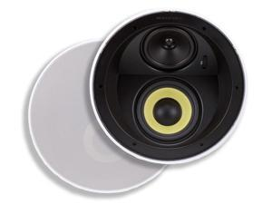 Caliber In Ceiling Speakers 6.5 Inch Fiber 3-Way with Concentric Mid/Highs (pair)