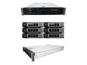 DELL PowerEdge R710 6 Bay Server2 x 2.53Ghz E5540 Quad Core 72GB 6 x 2TB 7.2K SATA 2 x PSU PERC 6/i DVD-ROM iDRAC Express Windows Server 2008 R2 Evaluation Edition