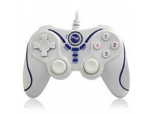 Wireless Gamepad Bluetooth Gaming Controller for Sony Playstation 3 PS3 (White+Blue)