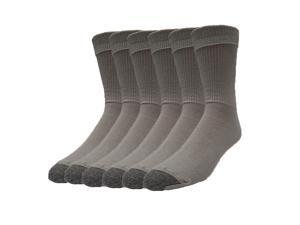 Galiva Men's Cotton Lightweight Crew Dress Socks - 6 Pairs, Medium, Grey