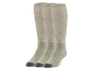 Galiva Men's Cotton ExtraSoft Over the Calf Cushion Socks - 3 Pairs, Medium, Grey
