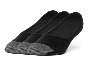Galiva Men's Cotton Lightweight No Show Liner Socks - 3 Pairs, Small, Black