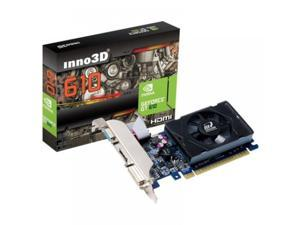 NEW NVIDIA Geforce Inno3D Video Graphics Card 1 GB PCIE windows 10 /7/8 Low profile