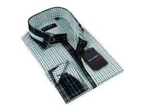 Max Lauren Men's Blue Dress Shirt 100% Premium Cotton