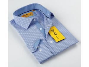 BriO Milano Men's Blue/ Beige/ White Button Down Dress Shirt
