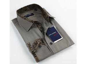 Max Lauren Men's Grey Dress Shirt (Small)