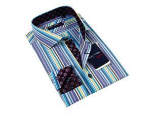 Max Lauren Men's Multicolor Dress Shirt 100% Premium Cotton