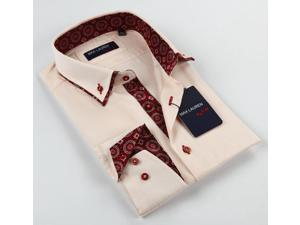 Max Lauren Men's Peach Dress Shirt 100% Premium Cotton