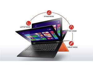 "Lenovo Yoga 2 Pro Ultrabook (59428041), Intel Core i5-4200U CPU, 4GB RAM, 128GB SSD, 13.3"" Multi-Touch QHD+ IPS Display (3200 x 1800), Backlit Keyboard, Windows 8.1 64-bit, Clementine Orange"