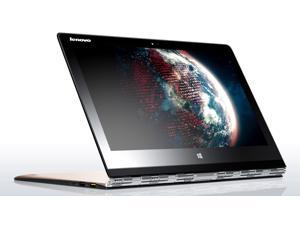 "Lenovo Yoga 3 Pro Convertible Ultrabook - Gold - Intel Core M-5Y71, 256GB SSD, 8GB RAM, 13.3"" QHD+ 3200x1800 Touchscreen, AC WiFi, Bluetooth, HD Webcam, Backlit Keyboard, Windows 10 (Golden Color)"