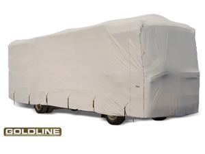 "Goldline Class A RV Cover - Gray  - Fits  557""L x 105""W x 126""H"