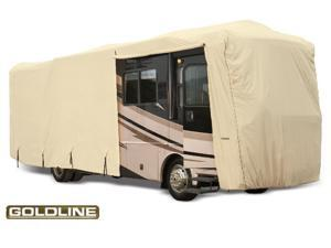 "Goldline Class A RV Cover - Tan  - Fits  557""L x 105""W x 126""H"