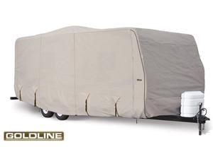 "Goldline Travel Trailer Cover - Gray  - Fits 485"" L x 102"" W x 104"" H"
