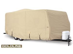 "Goldline Travel Trailer Cover - Tan  - Fits 557"" L x 102"" W x 104"" H"