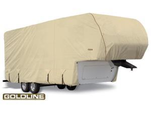 "Goldline Fifth Wheel Trailer Cover - Tan  - Fits 533""L x 106""W x 120""H"