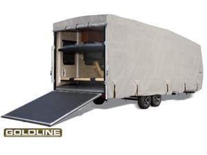 "Goldline Toy Hauler Trailer Cover - Gray  - Fits 485""L x 106""W x 120""H"