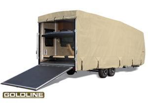 "Goldline Toy Hauler Trailer Cover - Tan  - Fits 557""L x 106""W x 120""H"
