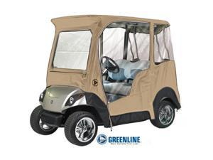 2 Passenger Yamaha Drivable Golf Cart Enclosure / Jet Black