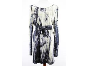 Per Te By Krizia Womens Long Sleeve Tunic Dress Size 18 Regular Camouflage Blue