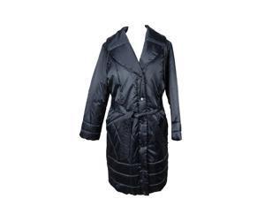 Krizia Womens Puffer Jacket Size 14 US Regular Blue Polyamide