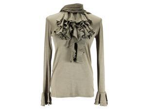 Ralph Lauren Long Sleeve Womens Blouse Size S US Regular Green Silk