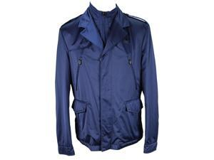 Piero Guidi Mens Jacket Size XL US - Blue Polyester