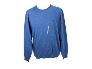 Polo By Ralph Lauren Mens Crewneck Sweater Size XL US Regular - Blue Wool